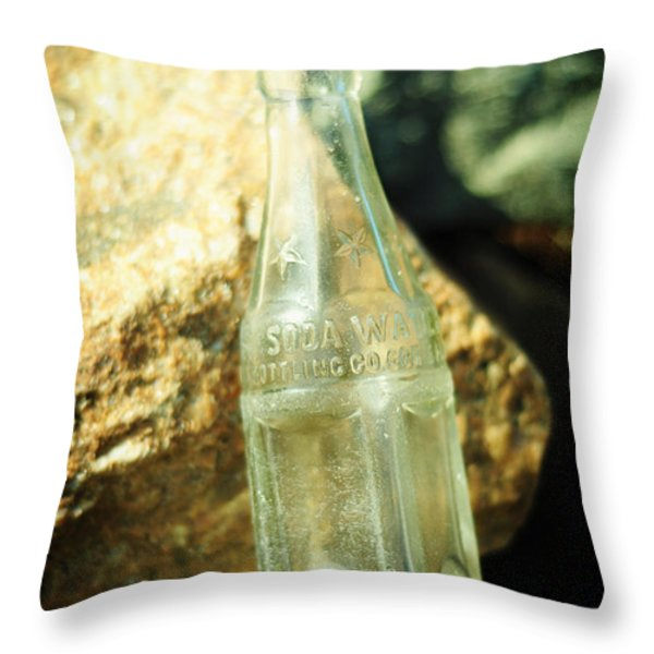 Soda Water Throw Pillow by Rebecca Sherman