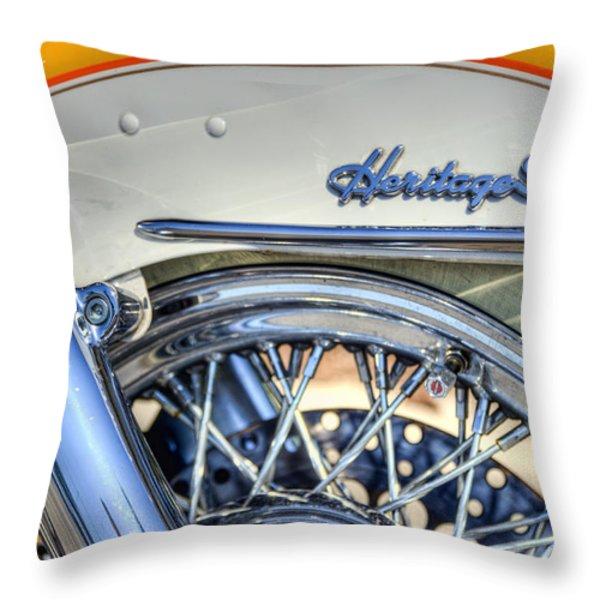 Softail Throw Pillow by Scott Norris