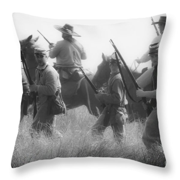 Soldiers Throw Pillow by Kim Henderson
