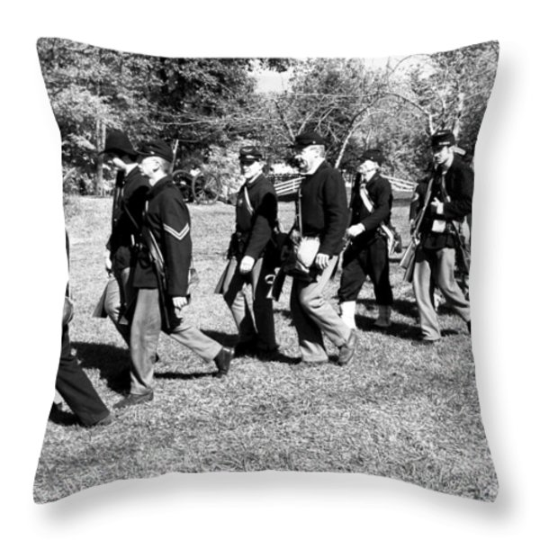 Soldiers March Throw Pillow by LeeAnn McLaneGoetz McLaneGoetzStudioLLCcom