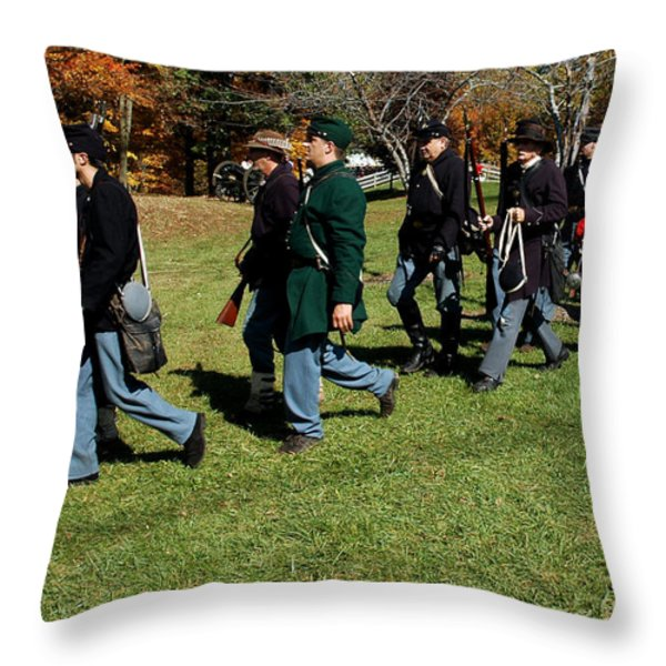 Soldiers March two by two Throw Pillow by LeeAnn McLaneGoetz McLaneGoetzStudioLLCcom
