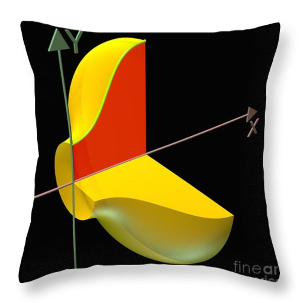 Solid Of Revolution 1 Throw Pillow by Russell Kightley