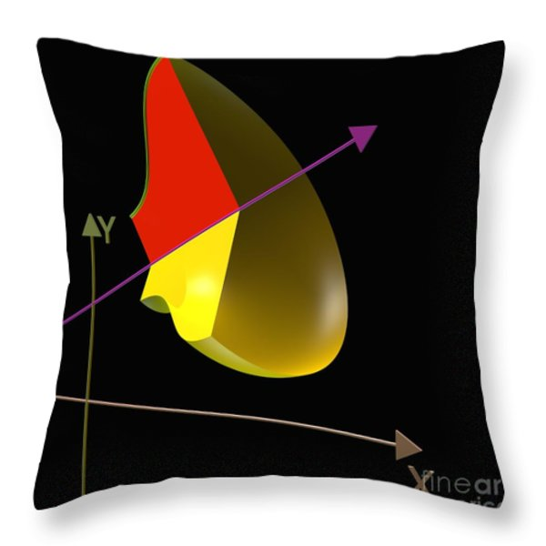 Solid of Revolution 4 Throw Pillow by Russell Kightley