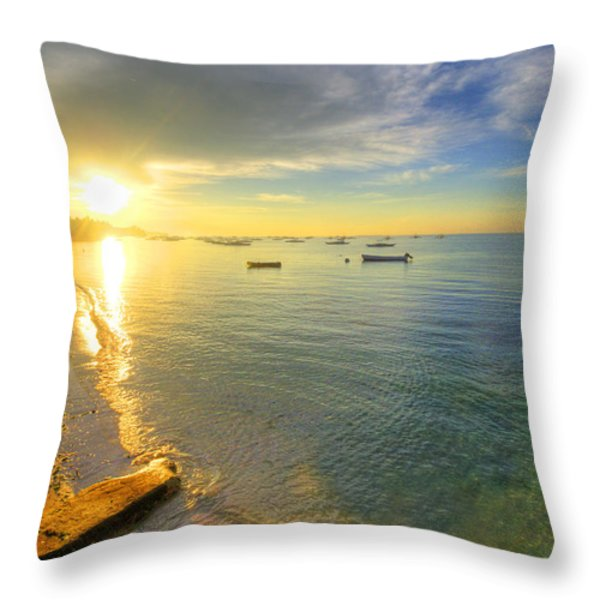 Some Days Stay Gold Forever Throw Pillow by Yhun Suarez