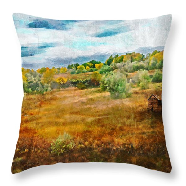 Somewhere in September Throw Pillow by Brett Pfister