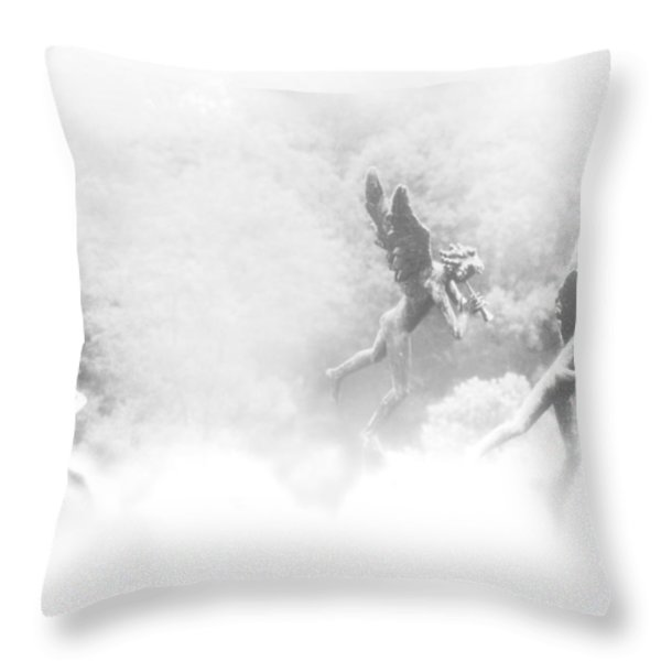 Song of the Angels Throw Pillow by Bill Cannon