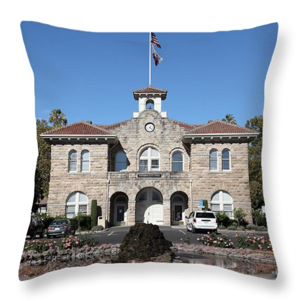 Sonoma City Hall - Downtown Sonoma California - 5d19260 Throw Pillow by Wingsdomain Art and Photography