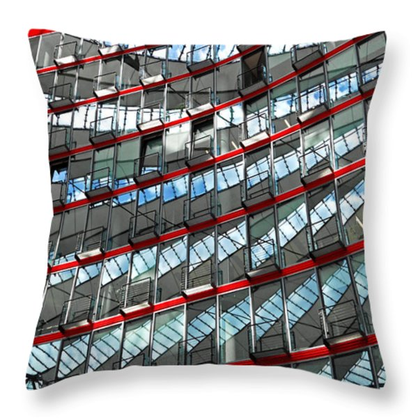 Sony Center - Berlin Throw Pillow by Juergen Weiss