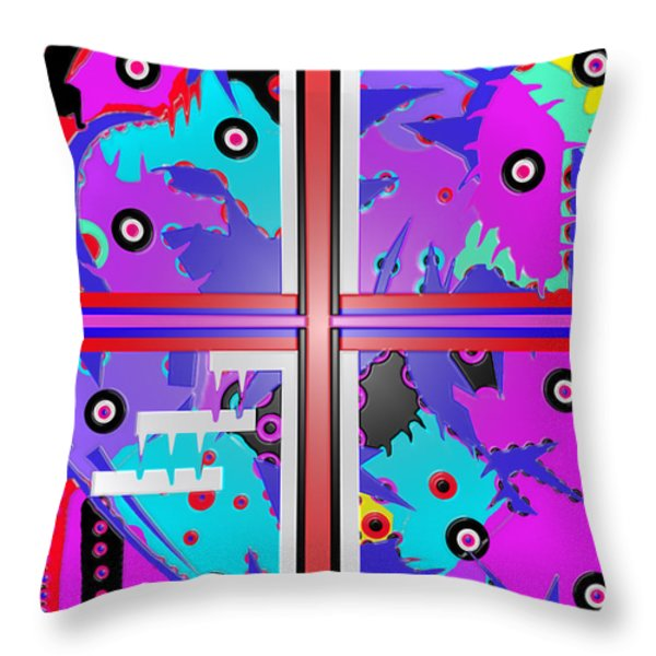 South Beach Miami  Throw Pillow by Robert Margetts