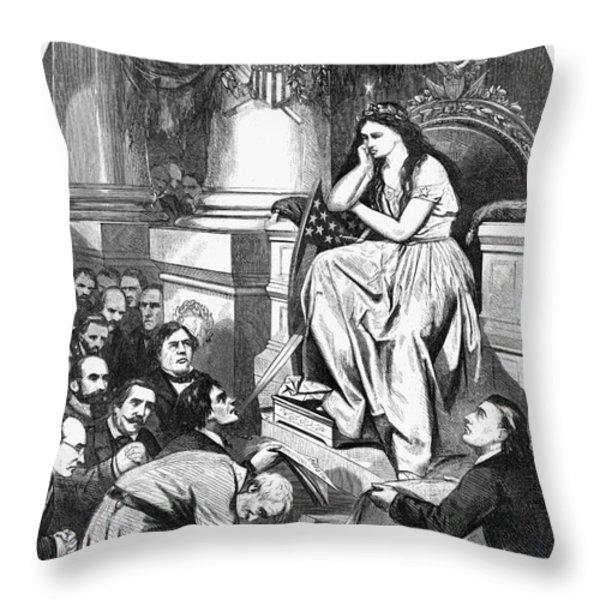 Southern Pardon Cartoon Throw Pillow by Granger