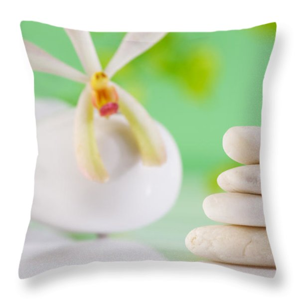 Spa Concepts Throw Pillow by ATIKETTA SANGASAENG