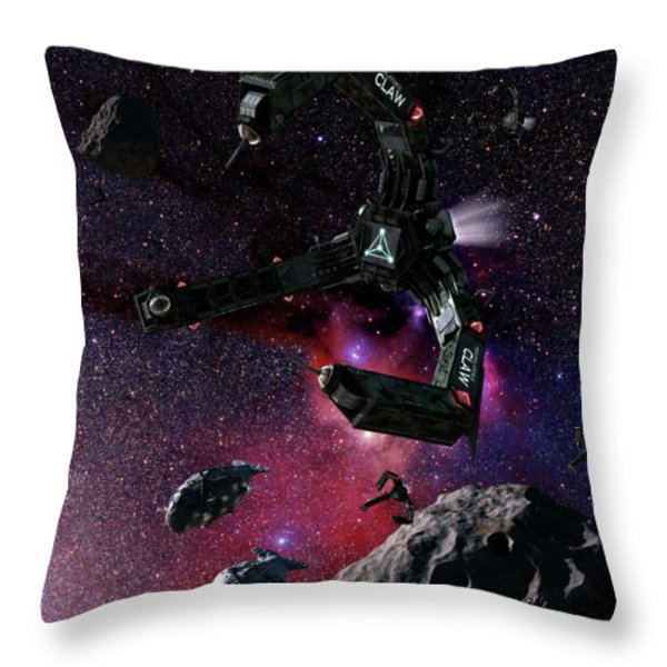 Space Scene Inspired By The Novels Throw Pillow by Rhys Taylor