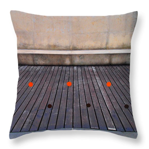 Space Throw Pillow by Skip Hunt