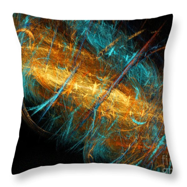 Space Storm Throw Pillow by Andee Design