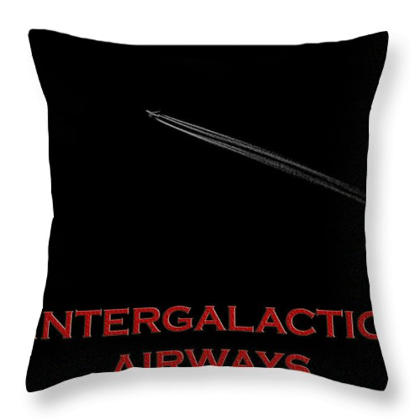 Space Travel Poster Throw Pillow by Andrew Fare