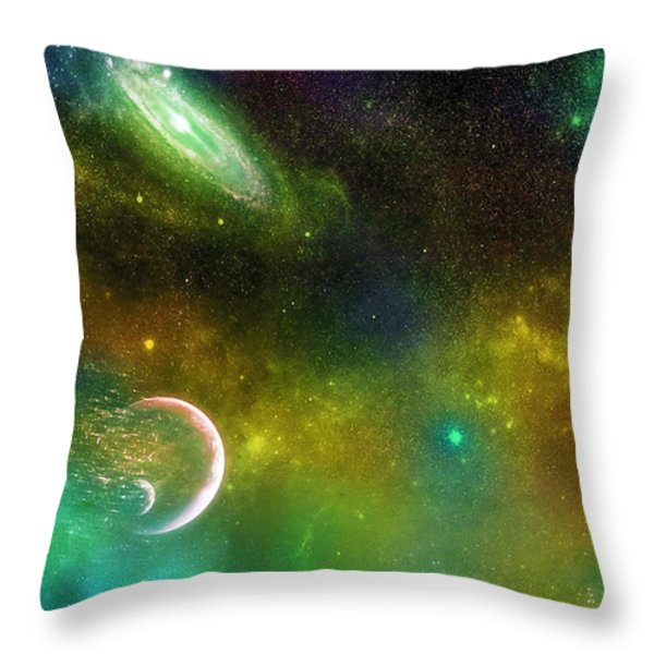 Space001 Throw Pillow by Svetlana Sewell