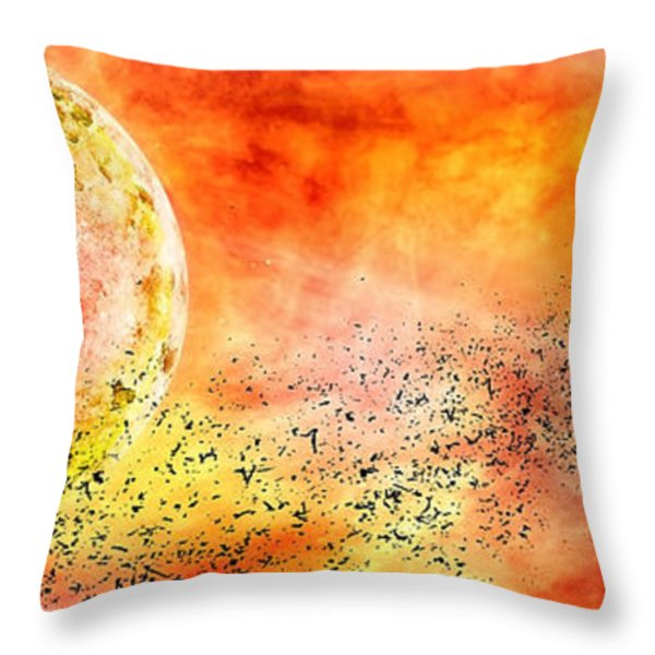 Space013 Throw Pillow by Svetlana Sewell