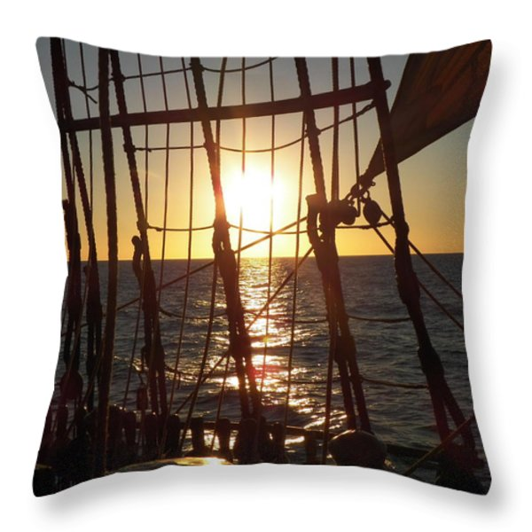 Sparkle in the Rigging Throw Pillow by L Jaye  Bell