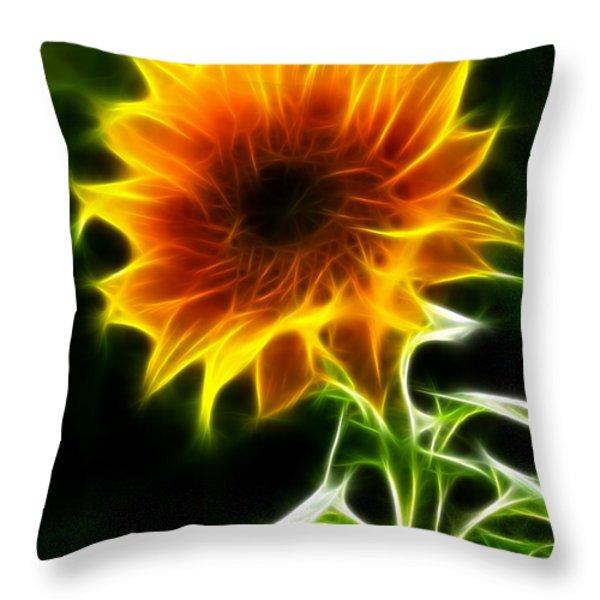 Spectacular Sunflower Throw Pillow by Pamela Johnson