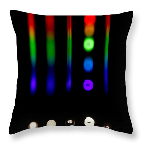 Spectra Of Energy Efficient Lights Throw Pillow by Ted Kinsman