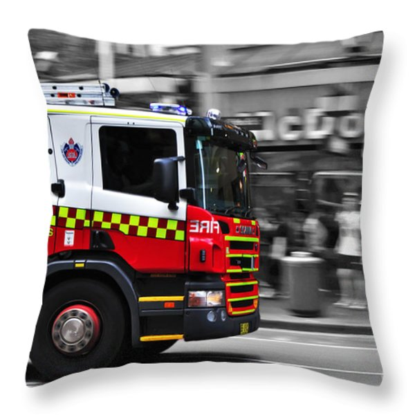 Speed In The City Throw Pillow by Kaye Menner