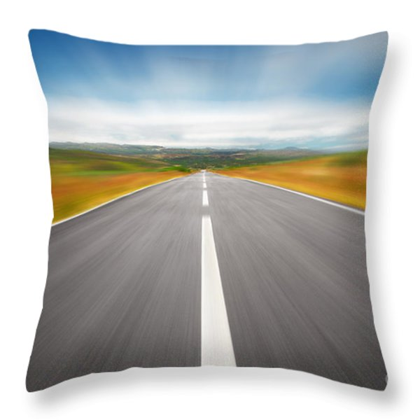 Speedyway Throw Pillow by Carlos Caetano