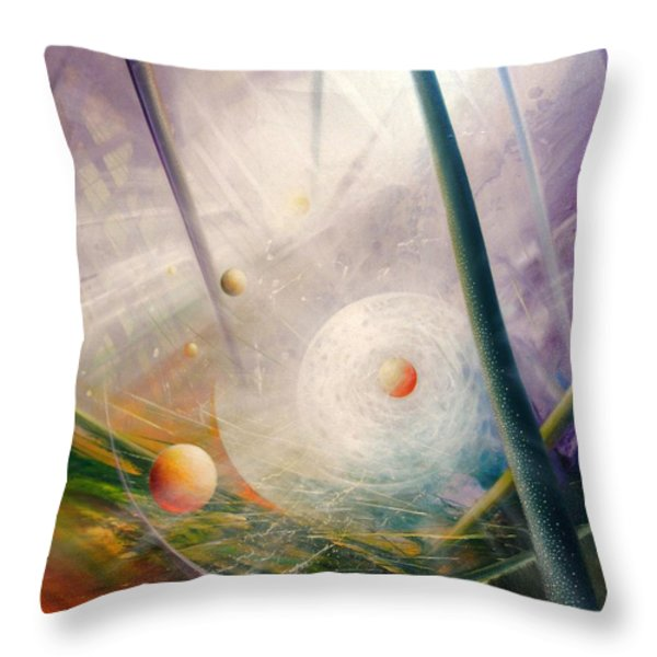 Sphere New Lights Throw Pillow by Drazen Pavlovic