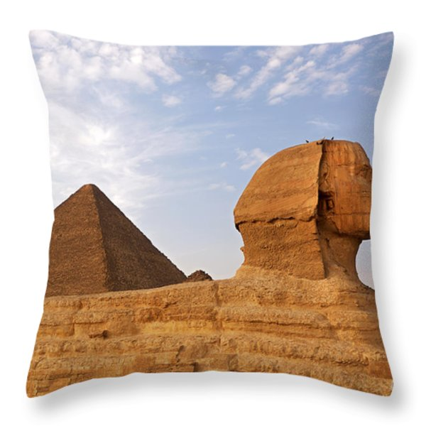 Sphinx Of Giza Throw Pillow by Jane Rix