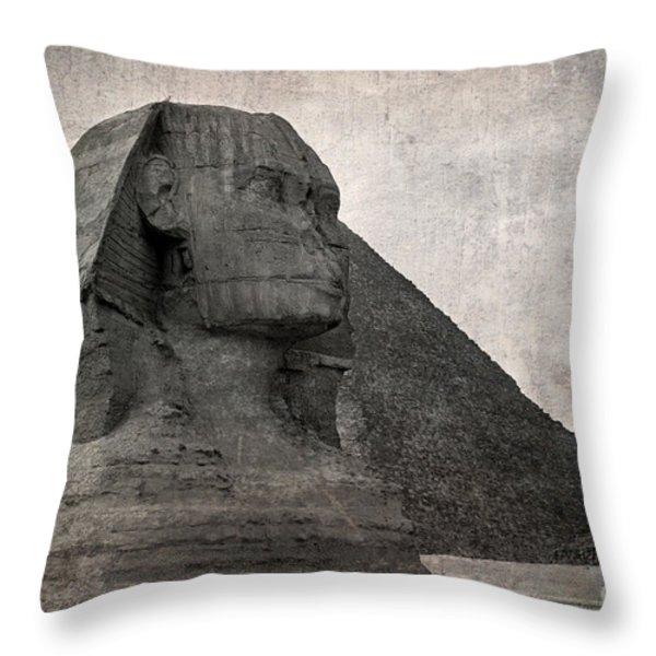 Sphinx vintage photo Throw Pillow by Jane Rix