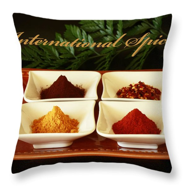 Spices From Around The World Throw Pillow by Inspired Nature Photography By Shelley Myke
