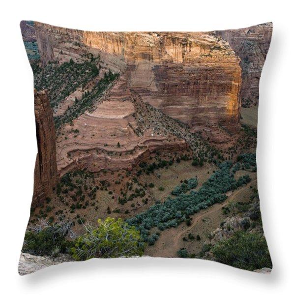 Spider Rock Vista Throw Pillow by Dave Dilli