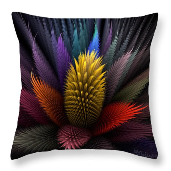 Spiky Botanical Throw Pillow by Peggi Wolfe