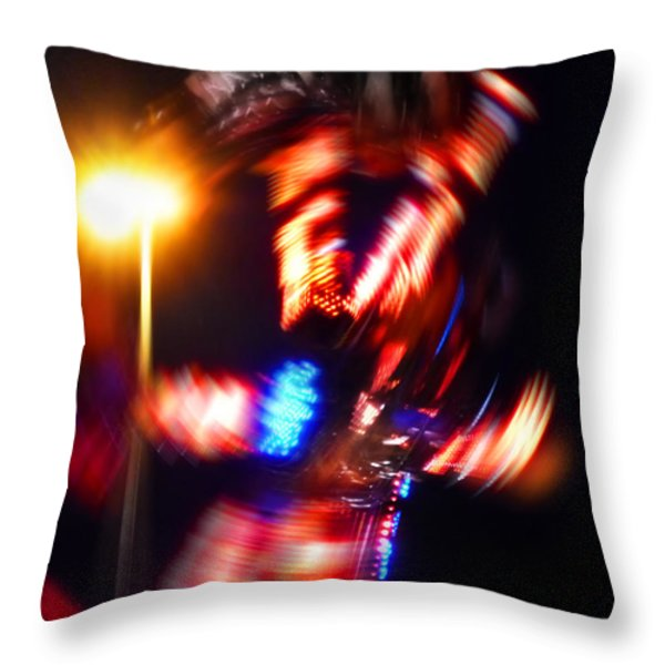Spin Two Throw Pillow by Charles Stuart