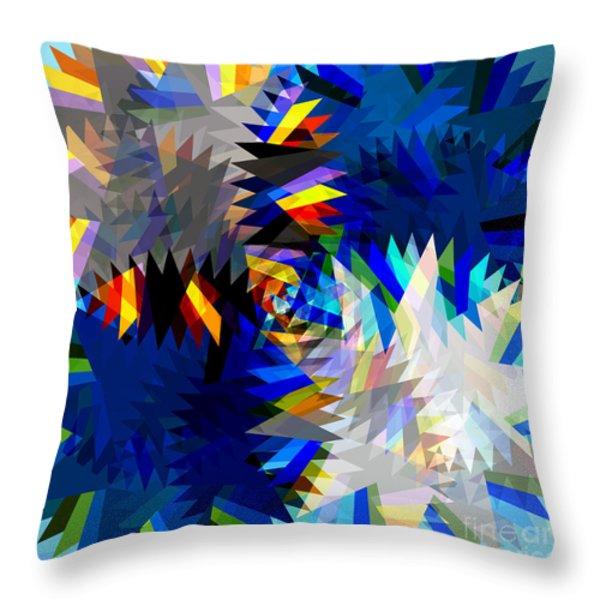 spinning saw Throw Pillow by ATIKETTA SANGASAENG
