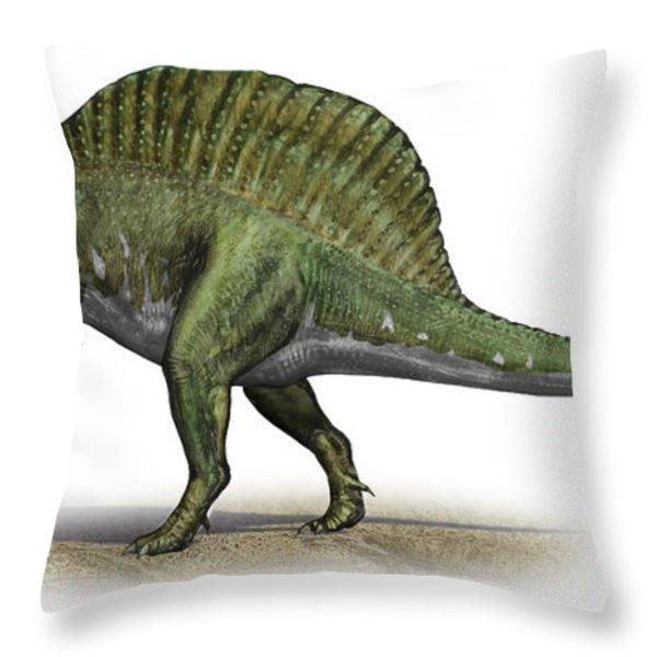Spinosaurus Aegyptiacus, A Prehistoric Throw Pillow by Sergey Krasovskiy