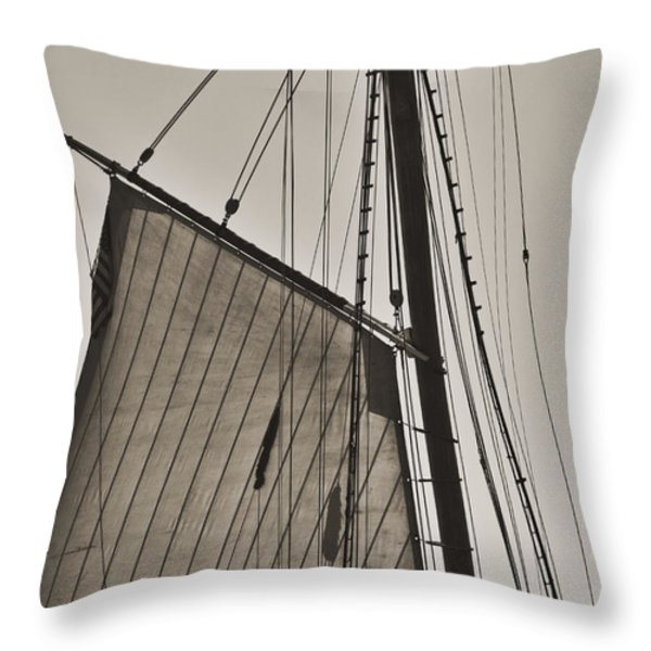 Spirit of South Carolina Schooner Sailboat Sail Throw Pillow by Dustin K Ryan