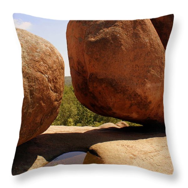 Split Bouuder Throw Pillow by Marty Koch