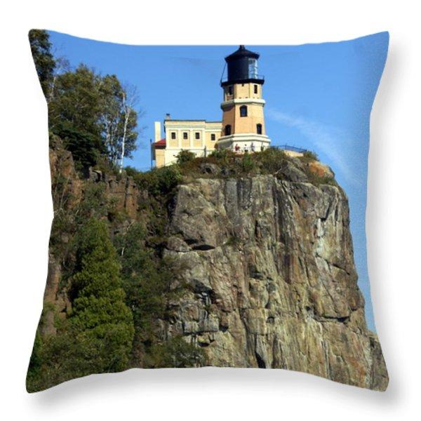 Split Rock 3 Throw Pillow by Marty Koch
