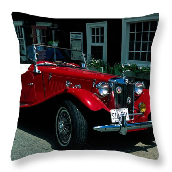 Sporty Throw Pillow by Sally Weigand