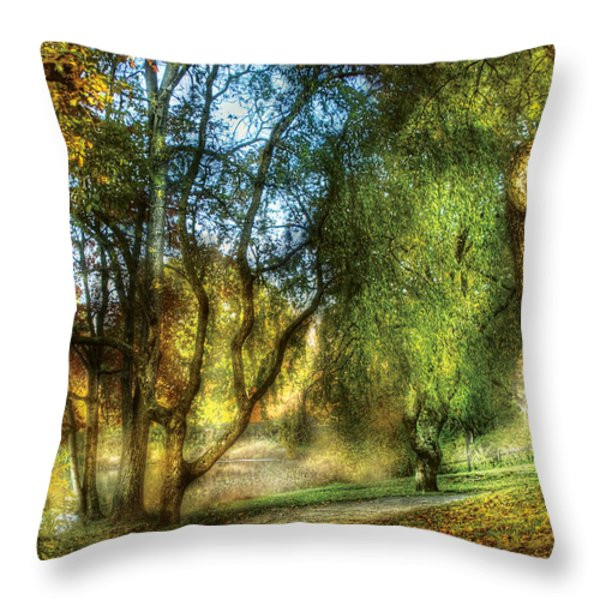 Spring - Landscape - My Journey My Path Throw Pillow by Mike Savad