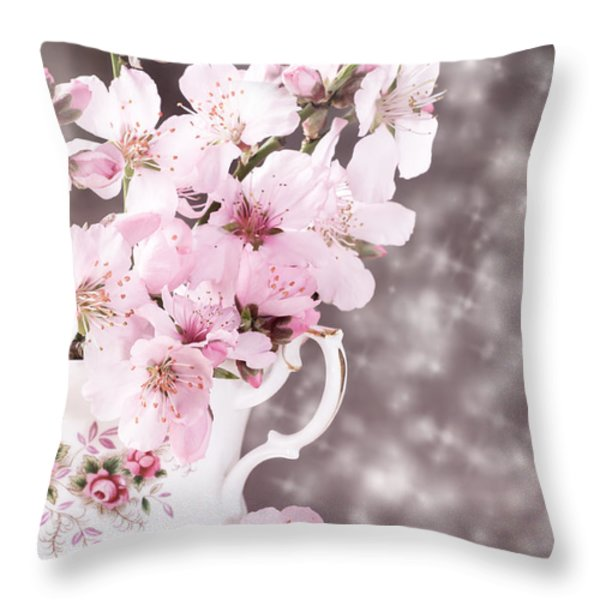 Spring Blossom Throw Pillow by Amanda And Christopher Elwell