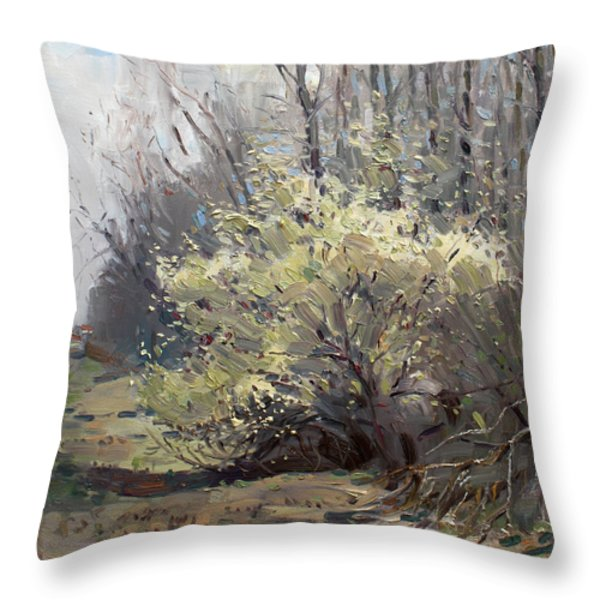 Spring Blossom Throw Pillow by Ylli Haruni