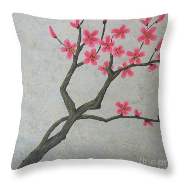 Spring Blossoms Throw Pillow by Billinda Brandli DeVillez
