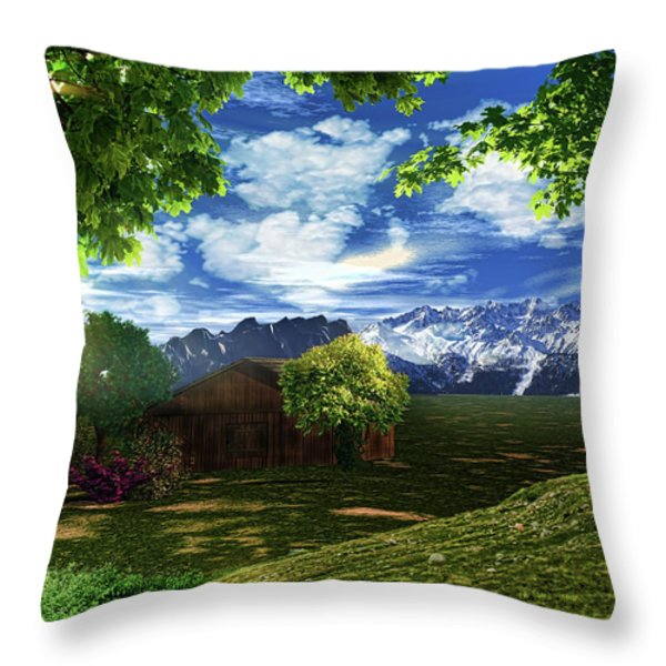 Spring Dawn Throw Pillow by Lourry Legarde