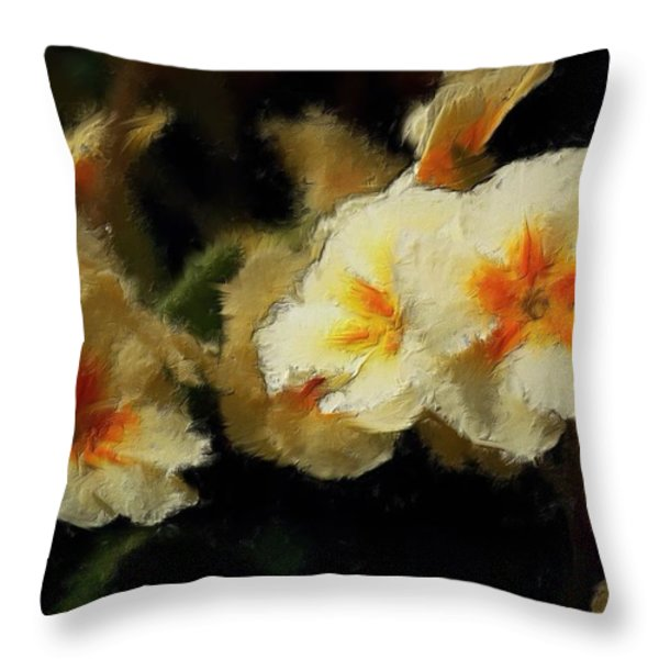 Spring Floral Throw Pillow by David Lane
