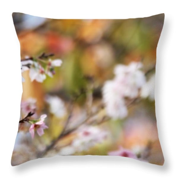 Spring In Autumn Throw Pillow by Eena Bo