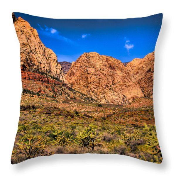 Spring Mountain Ranch In Red Rock Canyon II Throw Pillow by David Patterson