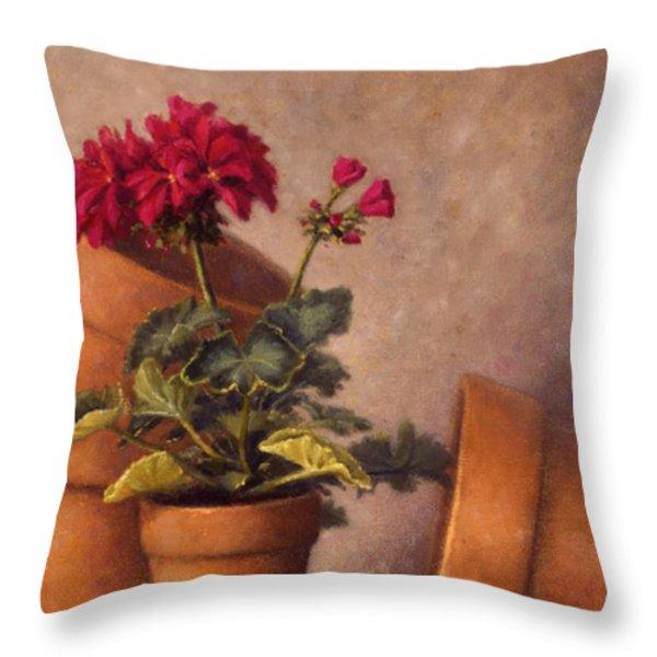 Spring Planting Throw Pillow by Rick Hansen