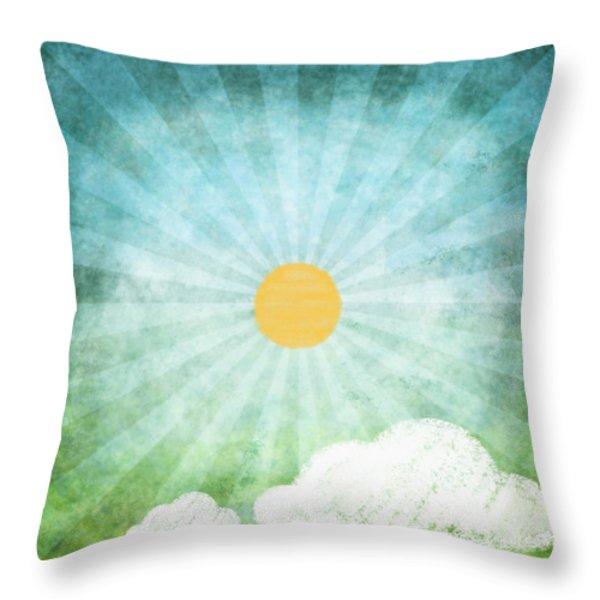 spring summer Throw Pillow by Setsiri Silapasuwanchai