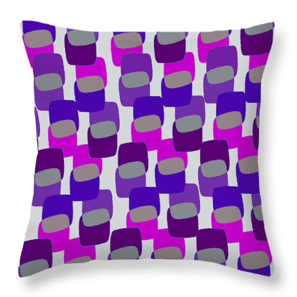 Squares Throw Pillow by Louisa Knight